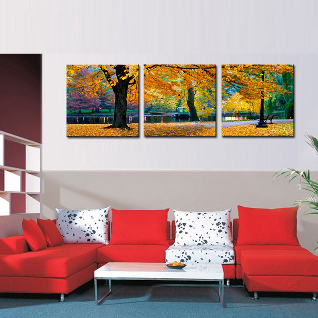 Aliexpress.com : Buy 3 Pieces Canvas Print Maple Tree Picture ...