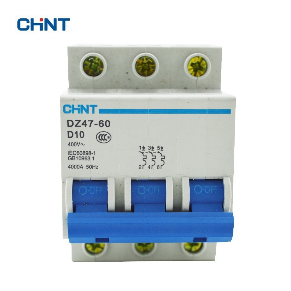 цена на CHINT DZ47-60 3P D10 Household Miniature Circuit Breaker With Over Current And Leakage Protection Air Switch