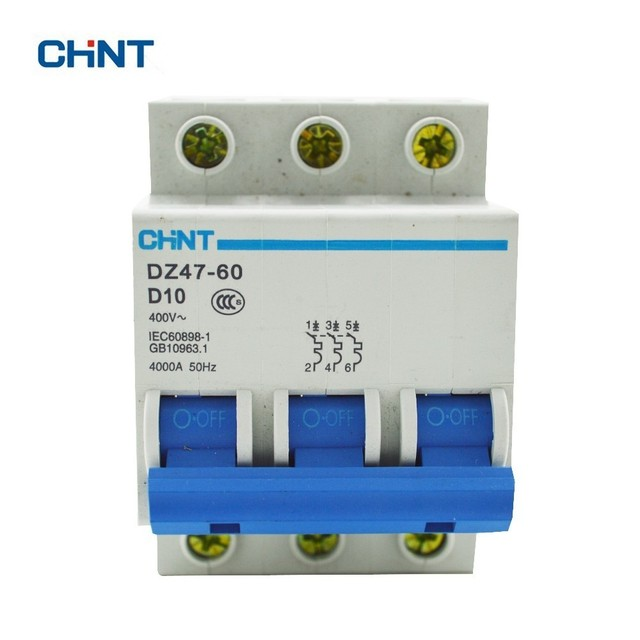 CHINT DZ47 60 3P D10 Household Miniature Circuit Breaker With Over ...