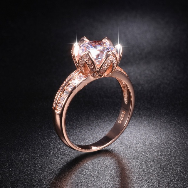 Promotion 8 Real Solid 100 925 Silver Rose Gold Lotus Flower