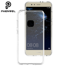 Phenvel crystal bumper case for huawei p10 lite TPU + PC impact protection Transparent cover