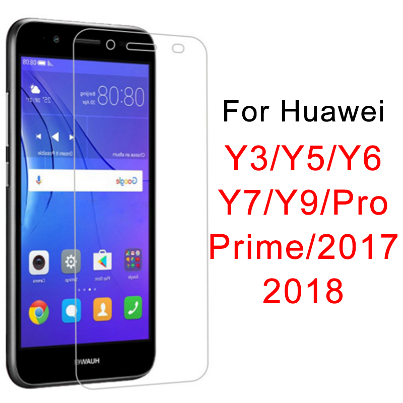 Protective <font><b>Glass</b></font> for <font><b>Huawei</b></font> <font><b>Y6</b></font> Y7 Prime 2018 Screen Protector for <font><b>Huawei</b></font> Y7 Y5 Y9 Pro <font><b>2017</b></font> Y 3 5 6 7 9 <font><b>Tempered</b></font> <font><b>Glass</b></font> Cover Film image