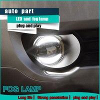 Car Styling Daytime Running Light For Citroen C4 PICASSO Fog Light Auto Angel Eye Fog Lamp