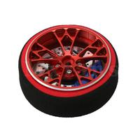 Mxfans 2.1x5cm 3.7 Inner Diameter Aluminum Alloy Red N10289 RC Buggy Metal Remote Controller Receiver Hand Wheel