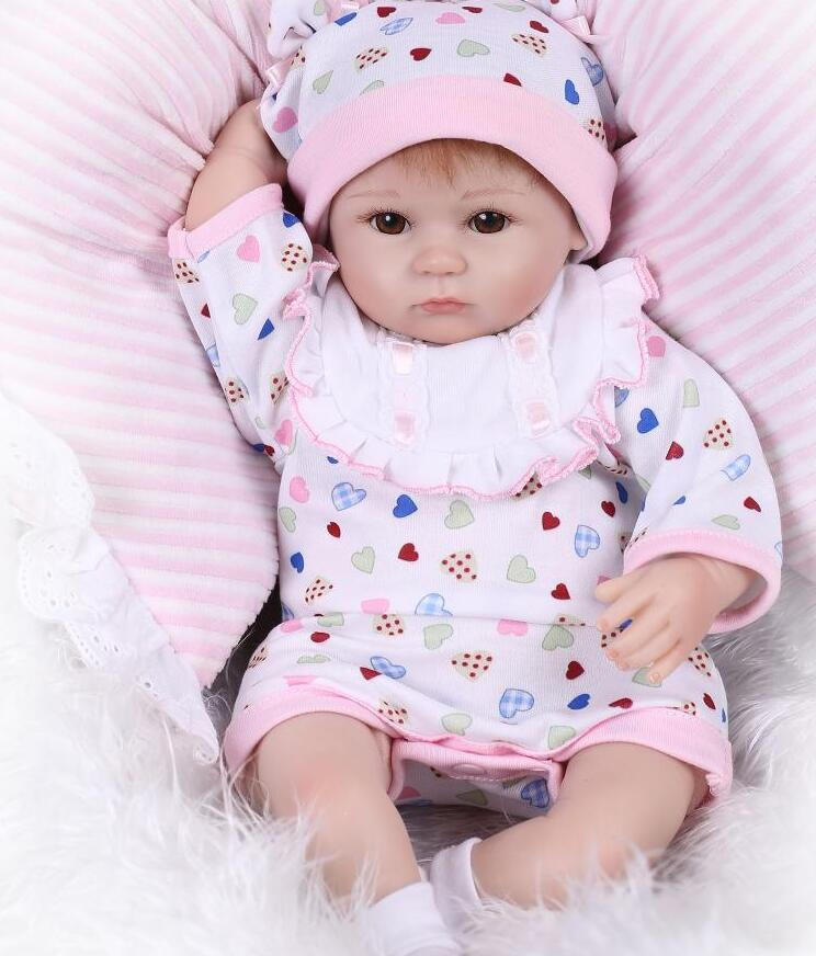 silicone reborn girl dolls With Bear Pacifier Luxury Accessories Princess Dolls Lovely Birthday Gift Girls Brinquedos Silicone silicone bear