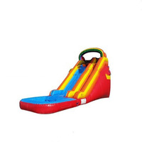 2in1 swiming pool inflatable water slides for sale