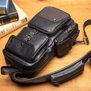 Image 3 - GUMST sacs à bandoulière en cuir pour hommes, sacoche poitrine, nouvelle collection 2020 étanche sac décontracté tendance