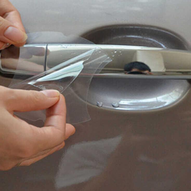 4 miếng dán xe hơi cửa tay cầm Miếng dán kính cường lực cho Renault Koleos captur FLUENCE Vĩ Làm Chân FRENDZY DANH LAM THẮNG CẢNH MEGANE megane 2 3 khăn lau bụi