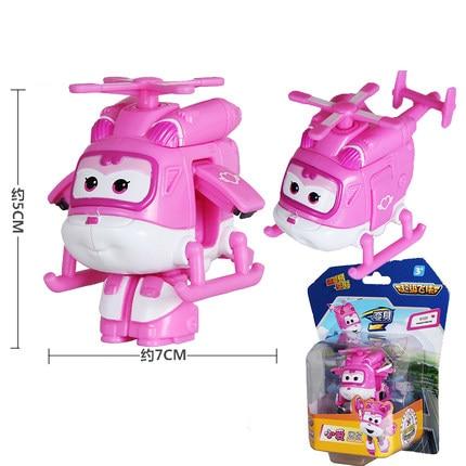 12 стилей, мини Супер Крылья, деформация, мини реактивный ABS робот, игрушка, фигурки, Супер крыло, трансформация, игрушки для детей, подарок - Цвет: With box Pink