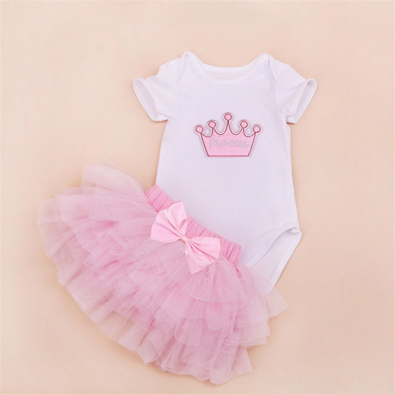 Tutu Baby Birthday Set Summer Short Sleeve Roupas Infantis Bebes 1st Birthday Outfit+Tutu Pettiskirt Dress Party Clothing Sets 13