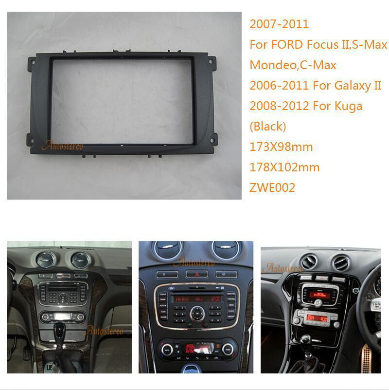 Car Stereo Radio Fascia Fitting Wiring Kit for Ford Focus Galaxy Mondeo Transit