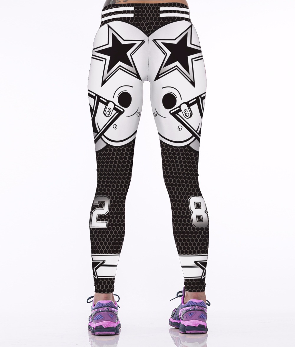 Women Fitness Leggings Team Dallas Cowboys Sport 3D Yoga Pants Gym Sweatpants