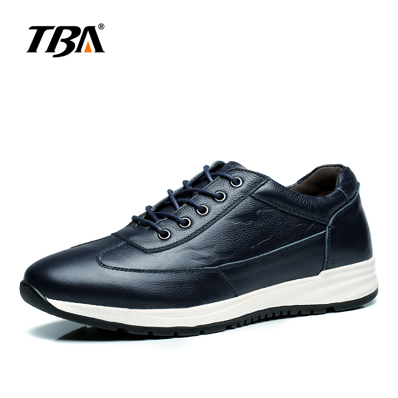 2017 TBA Men's Hard-Wearing Non-slip Sneakers top layer cowhide Simple Male Shoes lace-up light-weight SKateboaring shoes T5880 штаны узкие insight light civilian tba