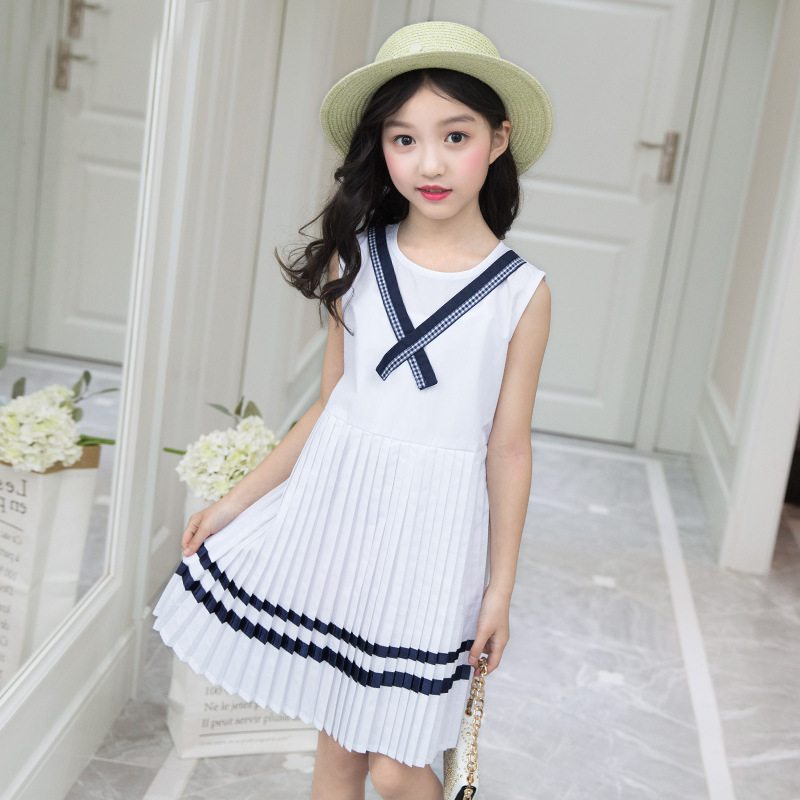 Military Girls Dress 3 4 5 6 7 8 9 10 11 12 Years Sleeveless Summer Kids Dresses Baby Girl Casual Clothes Big Girls Clothing все цены