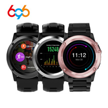 696 H1 Smart Watch Android 4.4 OS Sports Smartwatch MTK6572 512MB 4GB ROM GPS SIM 3G Heart Rate Monitor Camera IP68 Waterproof