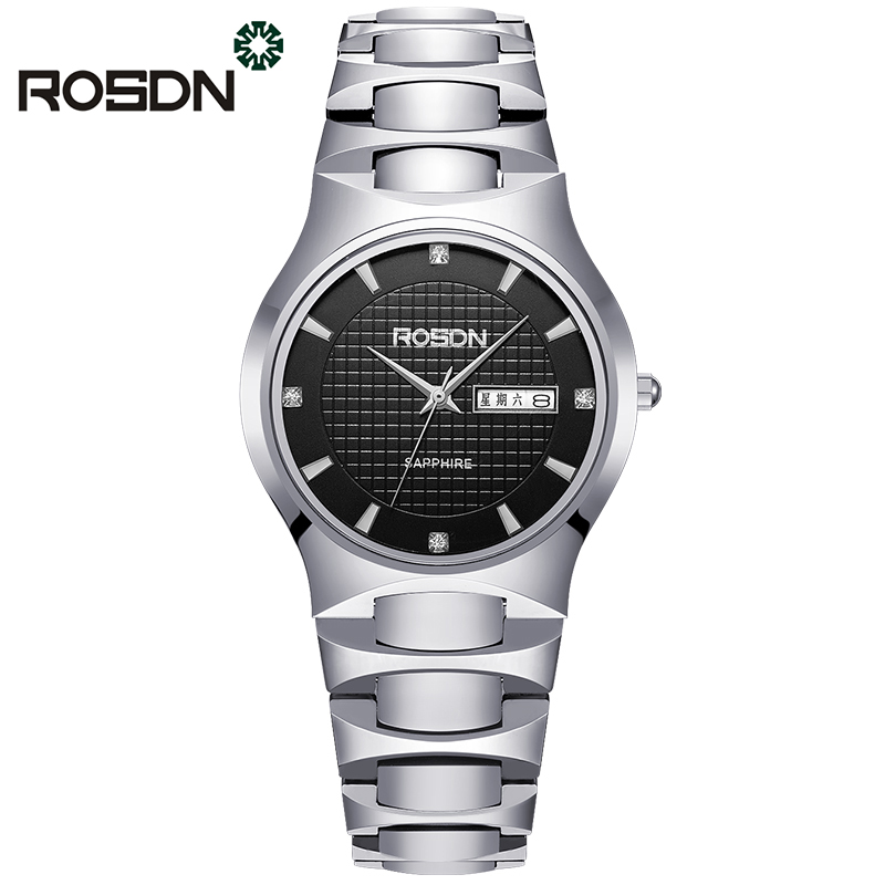 Luxury Lovers Watch Original ROSDN Top Brand Luxury Couple Watches Quartz Wrist Watch Fashion Waterproof Men Wristwatches 2017 real eyki brand couple watches top luxury men s leather wrist lovers dress quartz watch waterproof relogio masculino