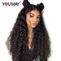 Шелк база свободная волна 13X4 Синтетические волосы на кружеве человеческих волос парики для Для женщин 180% плотность бразильский фронтально