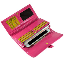 Fashion Women Leather Wallet Long Design Hasp Female Clutch Purse Female Trfold Design Pu Card Holder Wallet fashion style women s clutch with rivets and pu leather design