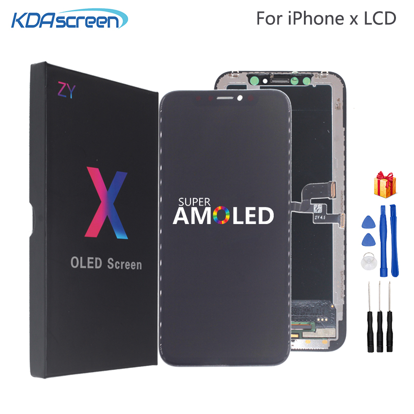 High Quality LCD For IPhone X XS XR Flexible Rigid Hard OLED For IPhone X XS GX AMOLED Display Soft With 3D Screen Replacement