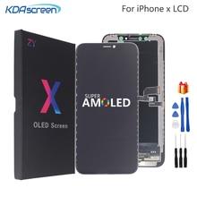 Iphone × 液晶 xs xr lcd ディスプレイ高品質 amoled 柔軟な剛性 iphone x xs xr 表示ソフト画面液晶 3D タッチ