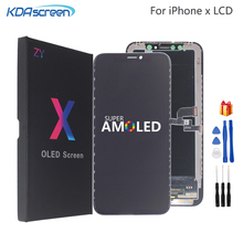 Per iPhone X LCD XS XR Display LCD di Alta Qualità Amoled Flessibile Rigido Duro Per il iPhone X XS XR Display morbido Schermo LCD 3D Touch