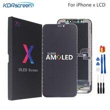 עבור iPhone X LCD XS XR LCD תצוגה גבוהה באיכות Amoled גמיש נוקשה קשה עבור iPhone X XS XR תצוגה רך מסך LCD 3D מגע