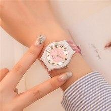 Силиконовые наручные часы Для женщин часы просто мода кварцевые часы для дам женские часы Montre Femme Relogio Feminino 5N