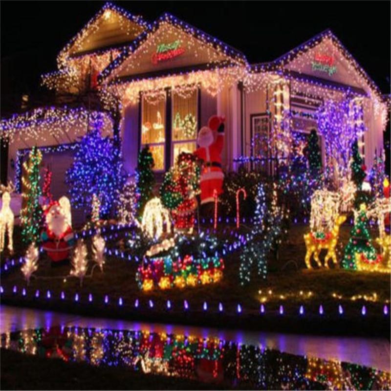 Guirlande lumineuse d'extérieur étanche, 9 couleurs, 10M, 100LED s LED, ac 220v, ac 110v, décoration de vacances et de noël 5