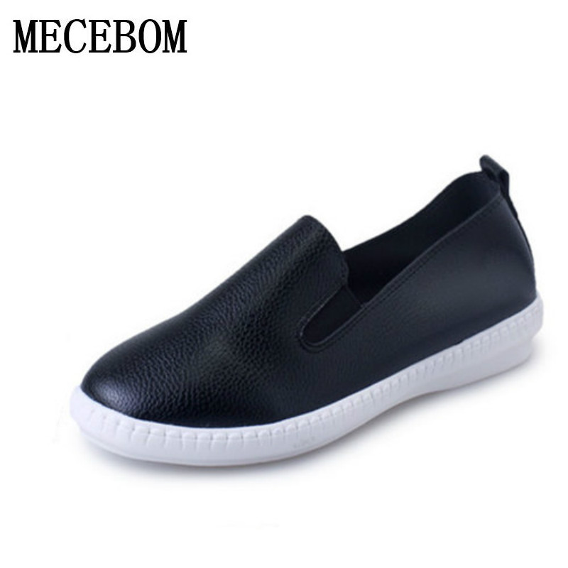 Casual Flat Shoes Woman 2017 Spring Solid Loafers Slip On Flats Fashion Round Toe Women Shoes 3 Colors Size 35-40 F039 women flats slip on casual shoes 2017 summer fashion new comfortable flock pointed toe flat shoes woman work loafers plus size