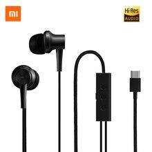 Orijinal Xiaomi ANC tip c kulak içi kulaklık aktif gürültü iptal hibrid HD kulak kulaklık kulaklık kablolu kumanda Mic ile