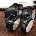 Eyki original de la marca de reloj de los deportes de los hombres de moda correa de cuero casual reloj de pulsera para mujeres y hombres analógico de cuarzo reloj montre homme