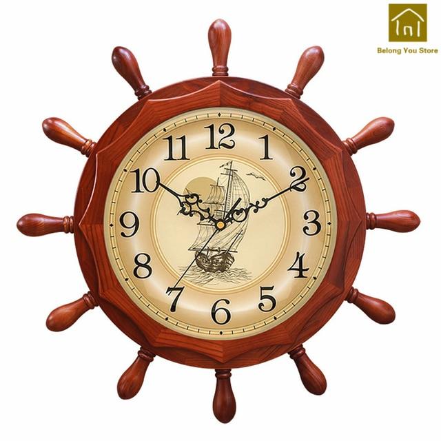 Holz Stumm Große Kreative Wanduhr Wohnzimmer Designer Wanduhren Digitale  Reloj De Pared Uhr Saat Dekoration Werkzeuge WKP146