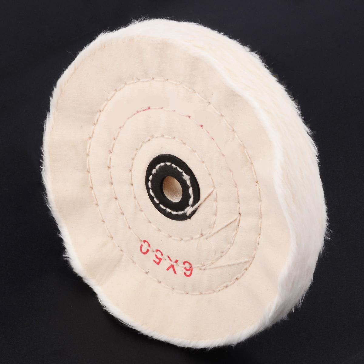 150mm White Flannel Polishing Pad Wheel Useful 6 Inch Buffing Polishing Wheel Disc Metal Marble Glass Ceramics Grinding Felt