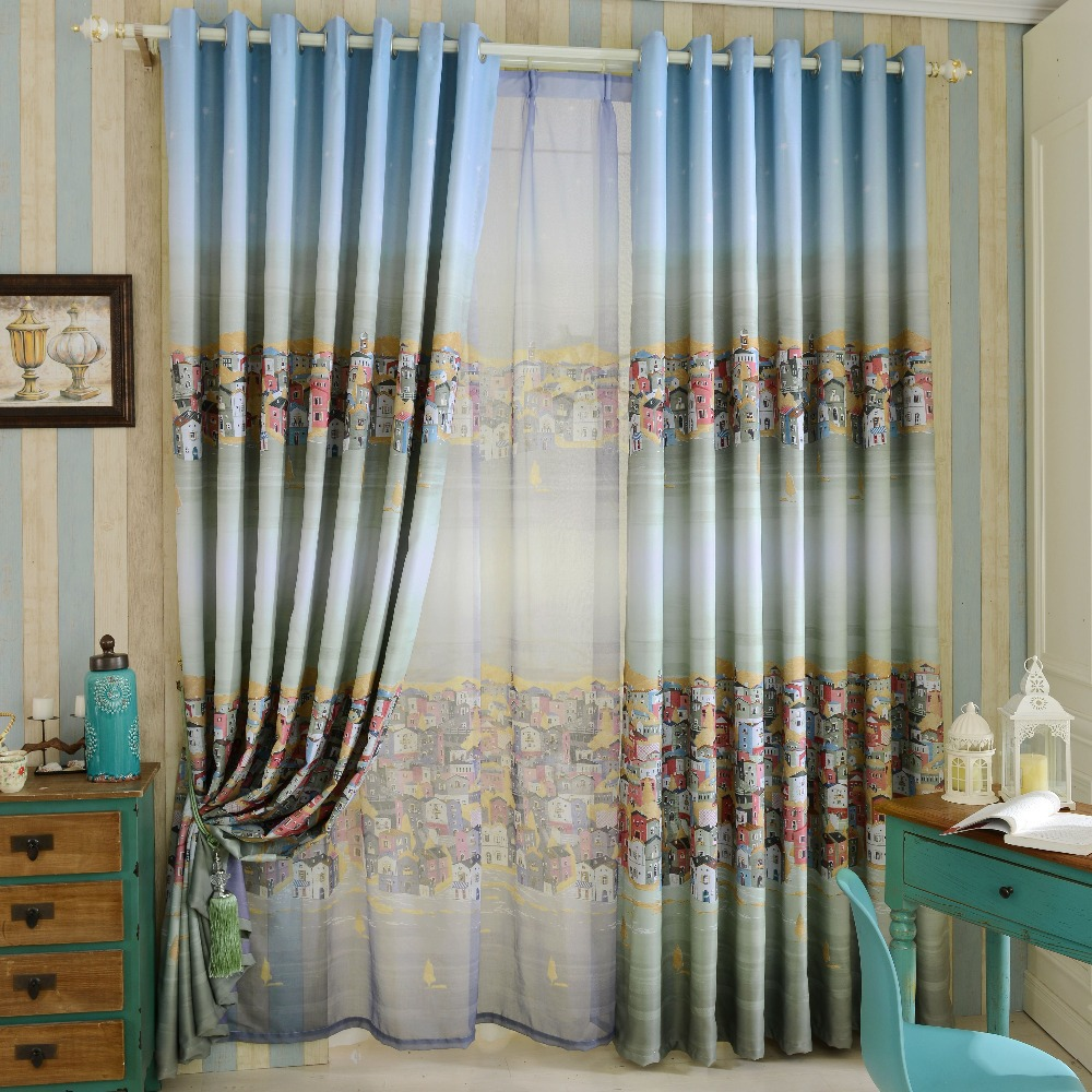 US $19.1 52% OFF|NAPEARL House design beautiful full blind window drapes  blackout home curtain treatments window cloth for child bedroom-in Curtains  ...