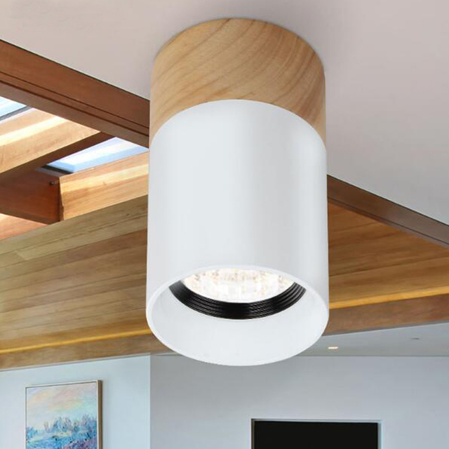 Wood Downlight LED Lights 3W 5W 90 260V Living Room Bedroom Spotlight  Ceiling Lamps LED