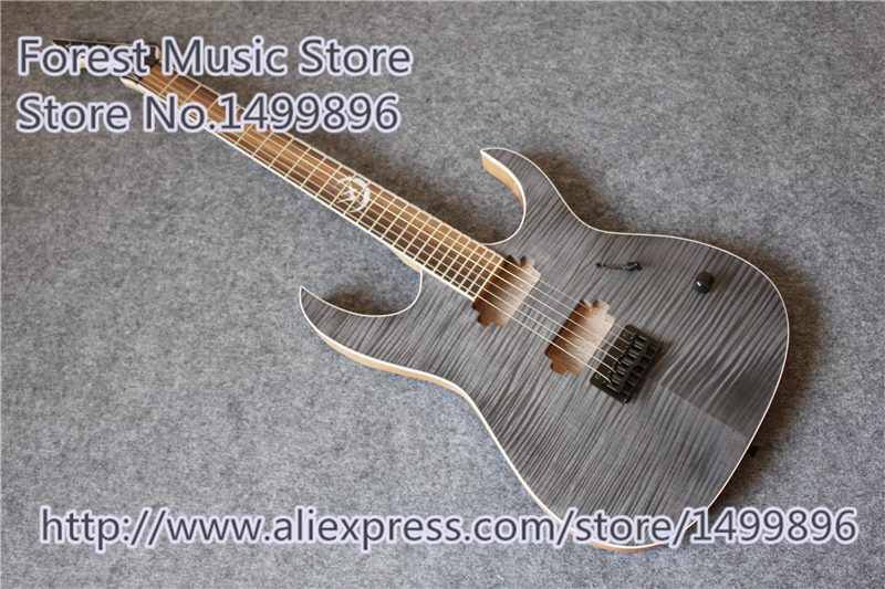 China Custom Shop Grey Tiger Flame Finish Electric Guitar Mahogany Body As Picture jackson russian rhoads custom shop