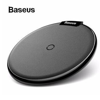 Baseus caso di Cuoio Caricatore Senza Fili Per iPhone 11 Pro Xs Max Xr X 8 Plus Desktop Wireless Pad Caricabatterie Per Il Samsung s10 S9 Xiao mi mi 9