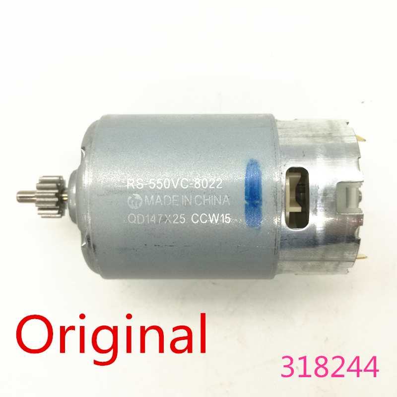 Motor Genuine Parts 318244 12V 9.6V For HITACHI FDS12DVA FDS9DVA DS12DVF3  DS9DVF3 DS12DVFA RS-550VC-8022 Motor