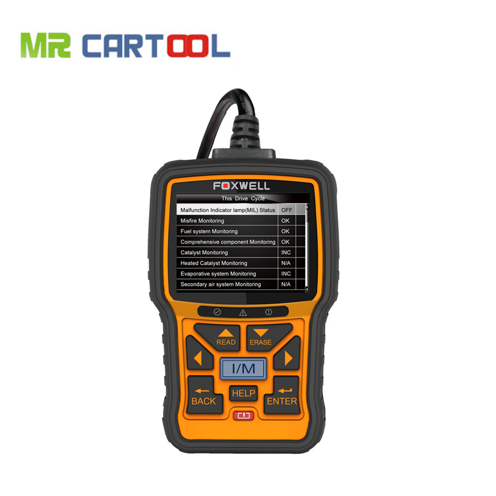 Foxwell NT301 Can OBDII EOBD Code Reader Update Online Powerful Auto Diagnostic Check Engine Scanner Tool 3 25 lcd eobdii can obdii scanner ps100 data code reader scanner