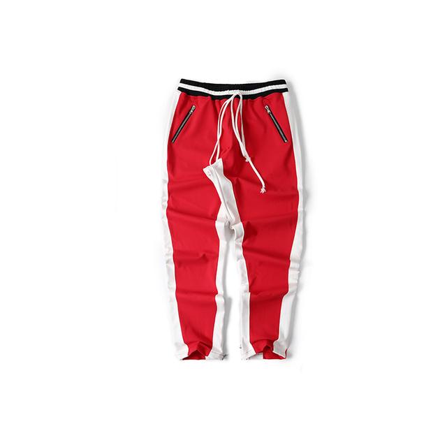 Strip Patch Fashion Easy Leisure Time Men Hip Hop Pants Harajuku Justin Bieber Haren Pants High Street Kanye Zipper Sweatpants