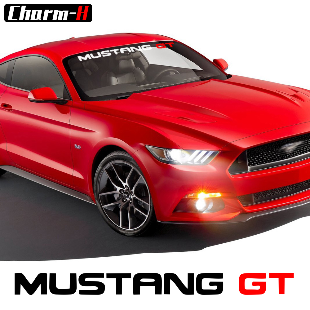 Car Styling Reflective Front Windshield Window Sticker Windscreen Vinyl Graphics Decal For Ford Mustang GT Accessories