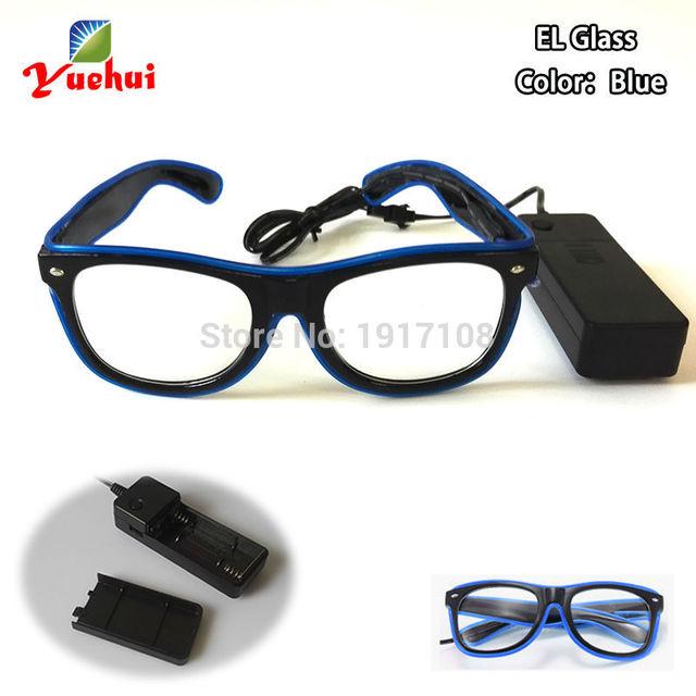 Hot sales 10 Color Trendy Sound active Wedding decor EL wire Glasses ...