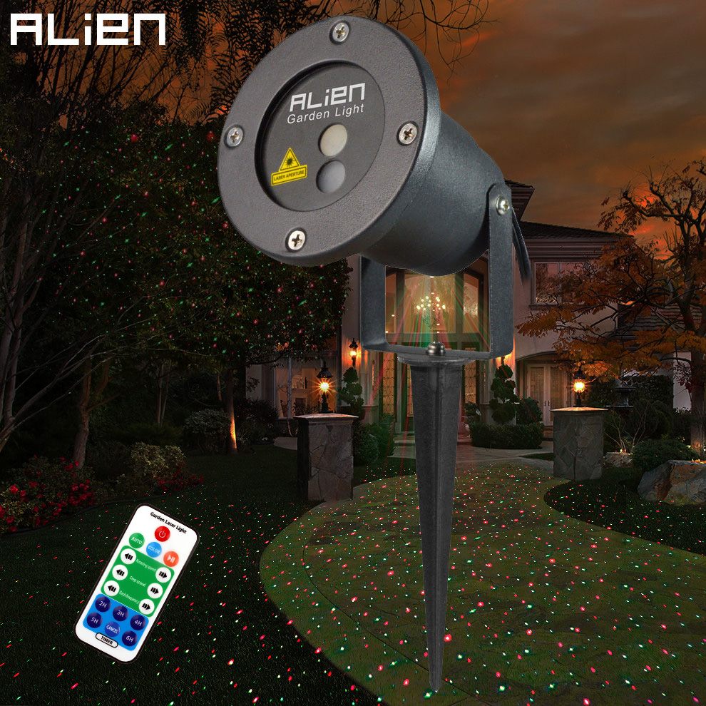 ALIEN Remote RG Laser Project Outdoor Holiday Waterproof Star Laser Lighting Projector Show Landscape Light Party Tree Garden new generation of led outdoor firefly light projector waterproof display landscape square garden tree christmas laser lighting page 9 page 8