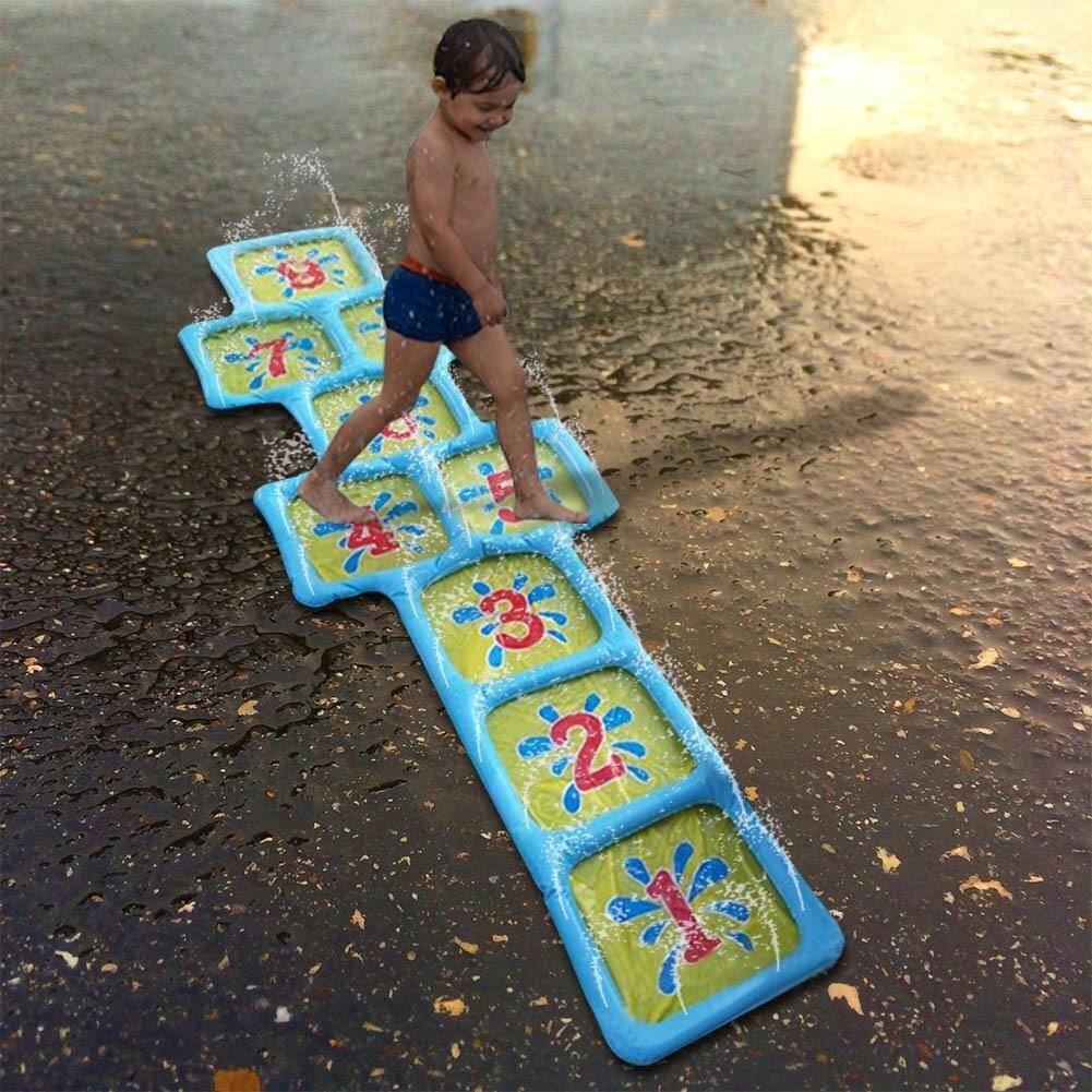 Jet d'eau gonflable de pulvérisation   Tapis carré, tapis de nombres, été jeu d'extérieur, pelouse de plage, accessoires de piscine