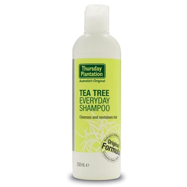 Jueves Árbol de Té Plantación Everyday Shampoo 250 ml para quitar la acumulación dejado de productos para el cabello, revitalizar limpieza pelo