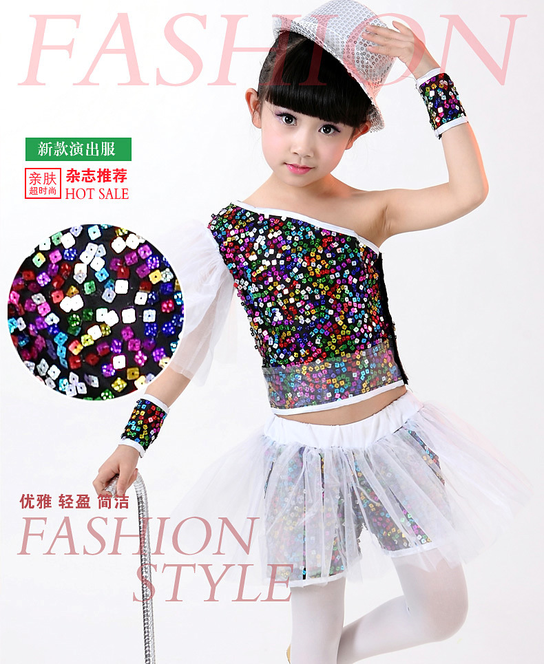 Vest Kids Clothing-Set Jazz-Costumes Dance-Suits Hip-Hop-Shorts Sequin Children's Summer