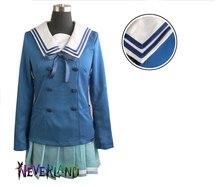 Горячая распродажа популярные JP аниме Kyokai нет каната костюмы Kuriyama мирай мило школьной формы студенты леди косплей одежды
