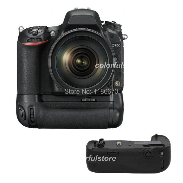 ФОТО Vertical Power Shutter Battery Handle Hand Grip Pack Holder For Nikon D750 Digital SLR DSLR Camera as MB-D16 MBD16 fit EN-EL15