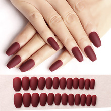 US $2.99 |24pcs/set full cover Matte False Nail tips Sharp Pointed Soft Red fake stiletto nails Pure candy colour-in False Nails from Beauty & Health on Aliexpress.com | Alibaba Group