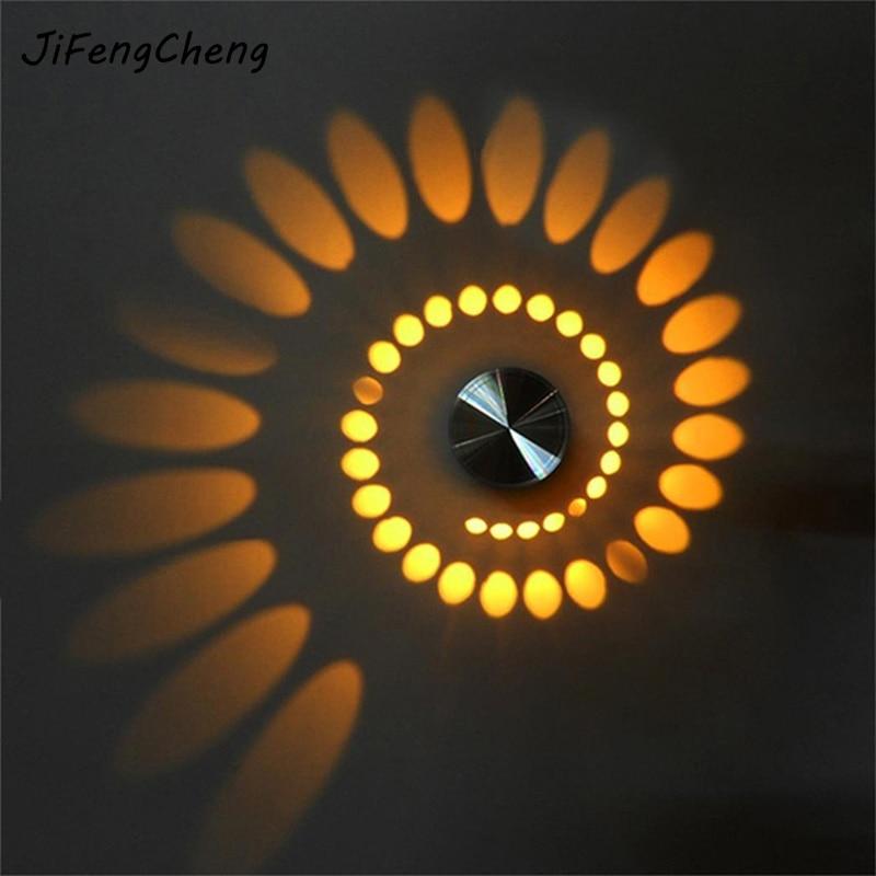 Jifengcheng современный Стиль 3 Вт светодиодный настенный светильник Алюминий Освещение в помещении для КТВ Бар украсить огни светильник бра Зад…